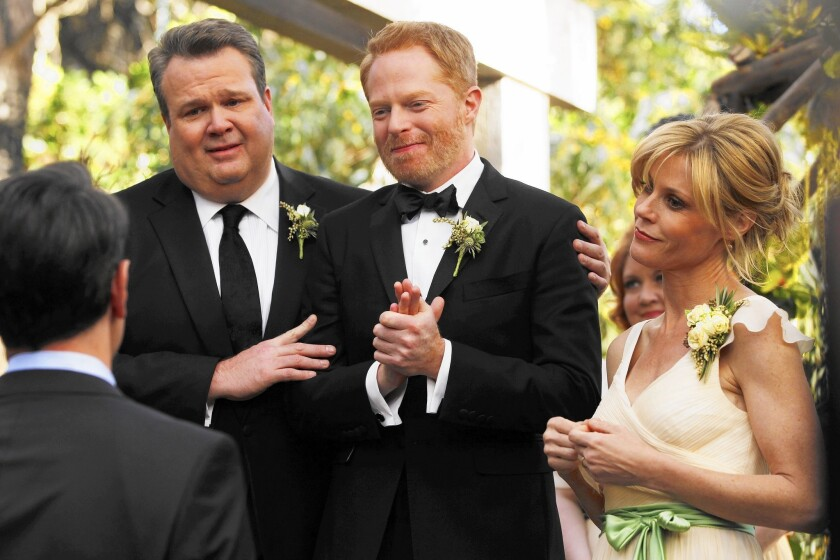 "Shows such as ABC's ""Modern Family,"" which showed two gay characters marrying last year, have long helped shape public opinion on same-sex marriage and other gay rights issues."