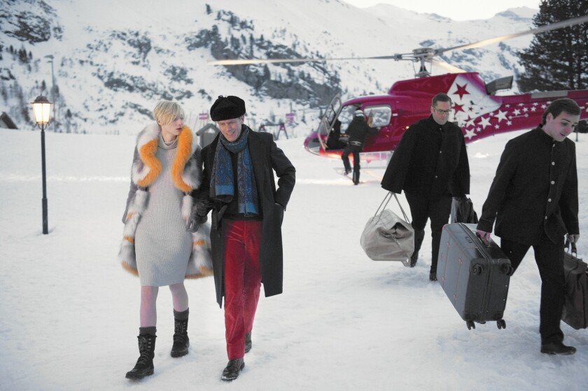 Elizabeth Debicki and Hugh Laurie in 'The Night Manager'