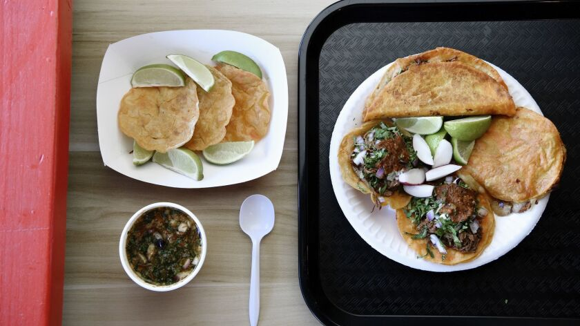 LOS ANGELES, CA-February 6, 2019: Teddy's Red Tacos newest location in Venice on Wednesday, Februar