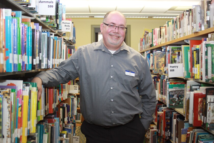 La Jolla Library branch manager Bill Mallory