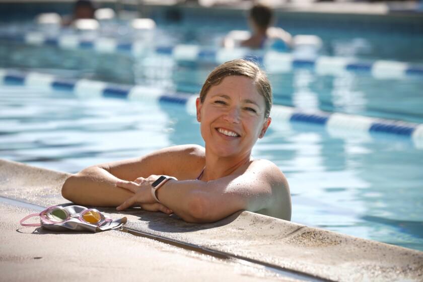 Swim coach Kristina Viviani at the Broadway Athletic and Swim Club downtown.