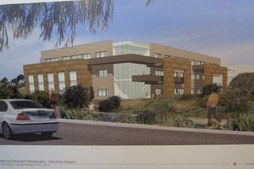 Artist's rendering of the proposed Center for Innovative Therapeutics