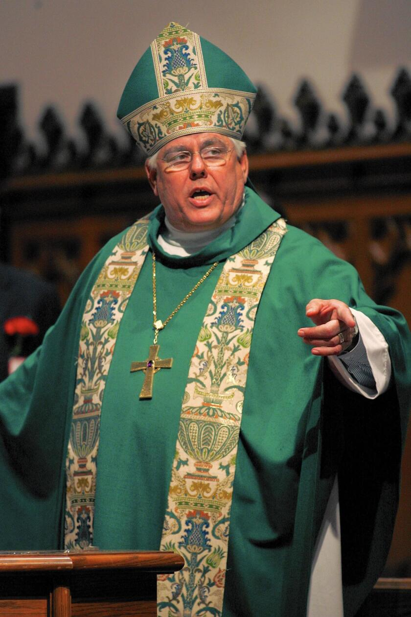 Bishop J. Jon Bruno of the Episcopal Diocese of Los Angeles is pictured in 2006.