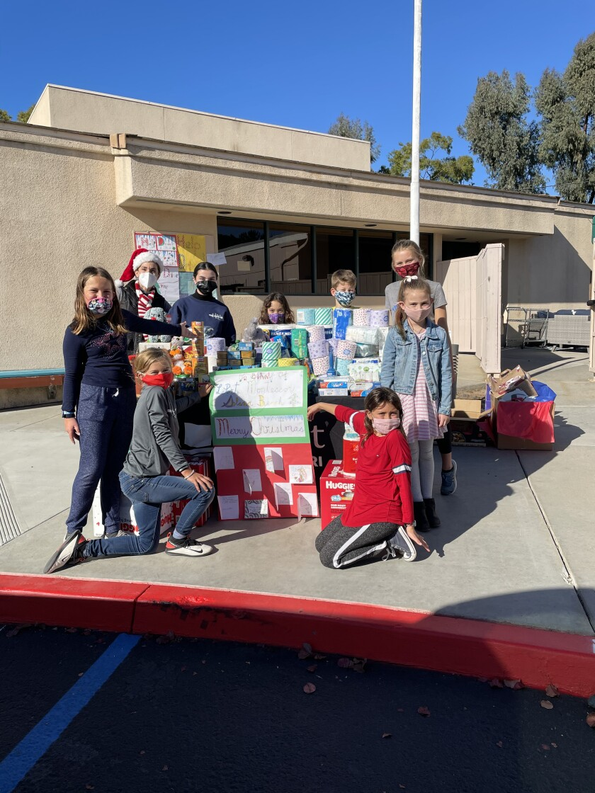 Students held a donation drive for Our Lady of Guadalupe Church in Barrio Logan.