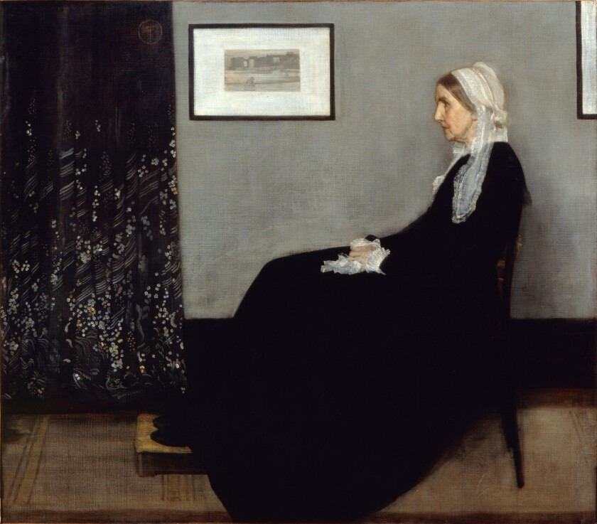 """James Abbott McNeill Whistler's 1871 painting """"Arrangement in Grey and Black No. 1,"""" better known as """"Portrait of the Artist's Mother,"""" will visit the Norton Simon Museum in Pasadena next year."""