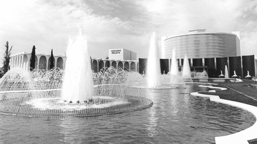 The fountains that greeted the first guests to Caesars Palace in 1966 still remain amid statuary along Las Vegas Boulevard.