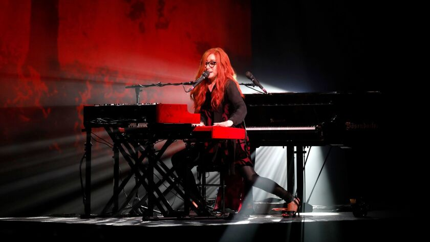 Tori Amos performs Sunday night at the Theatre at Ace Hotel in Los Angeles.