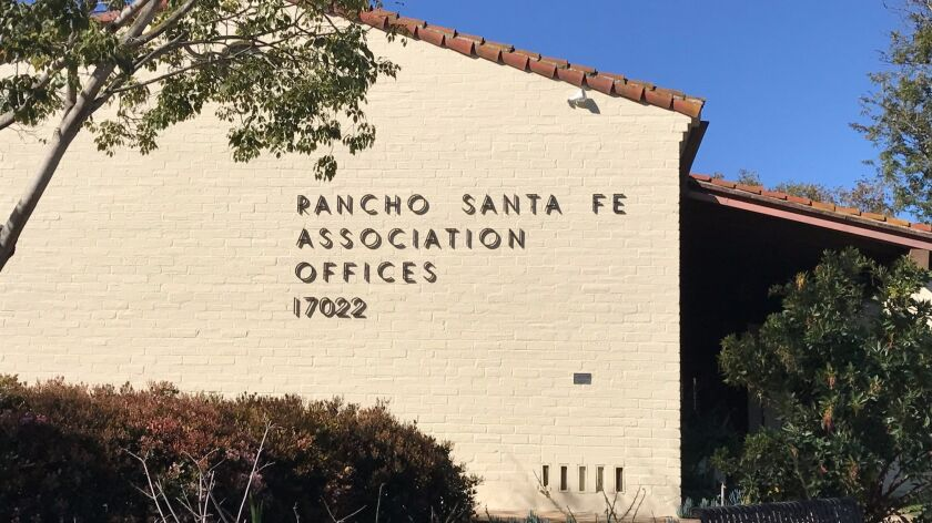 The Rancho Santa Fe Association offices.