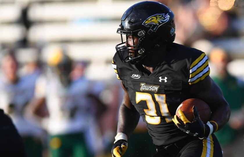 Towson running back Jerry Howard Jr. leads the Tigers in rushing with 187 yards through three games.