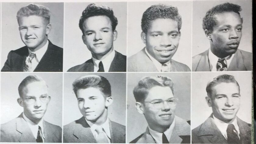 La Jolla High School 1948 yearbook. Upper right corner pictures of Luke and Randell Epps