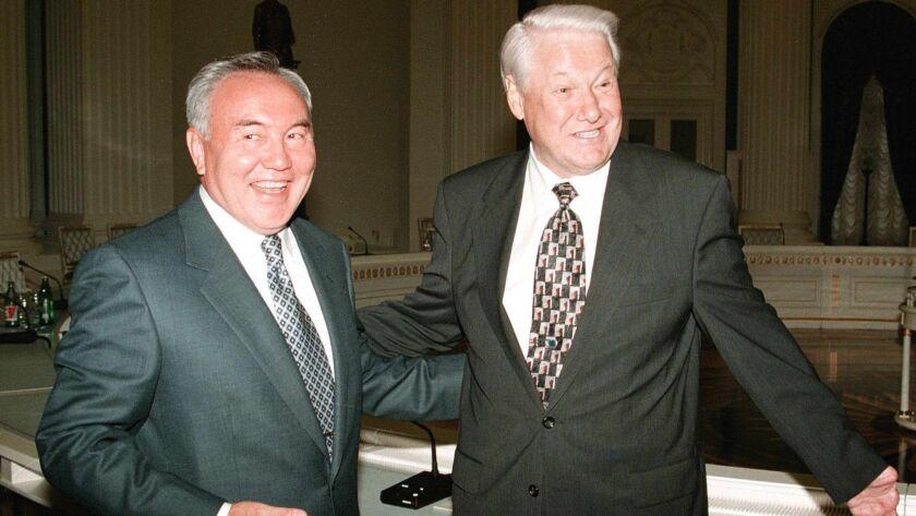 Kazakhstan's President Nursultan Nazarbayev resigns, Moscow, Russian Federation - 06 Jul 1998