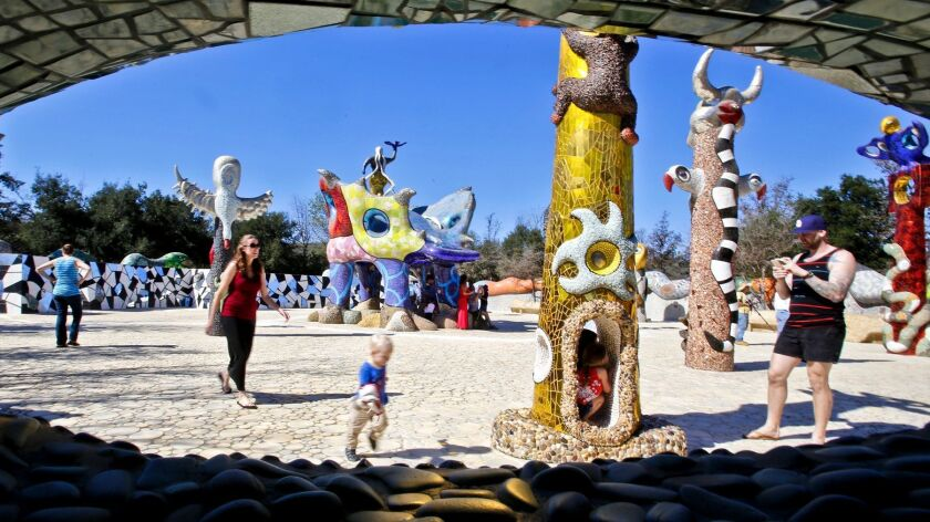 Queen Califia's Magical Circle at Kit Carson Park in Escondido was open to the public on Saturday. P