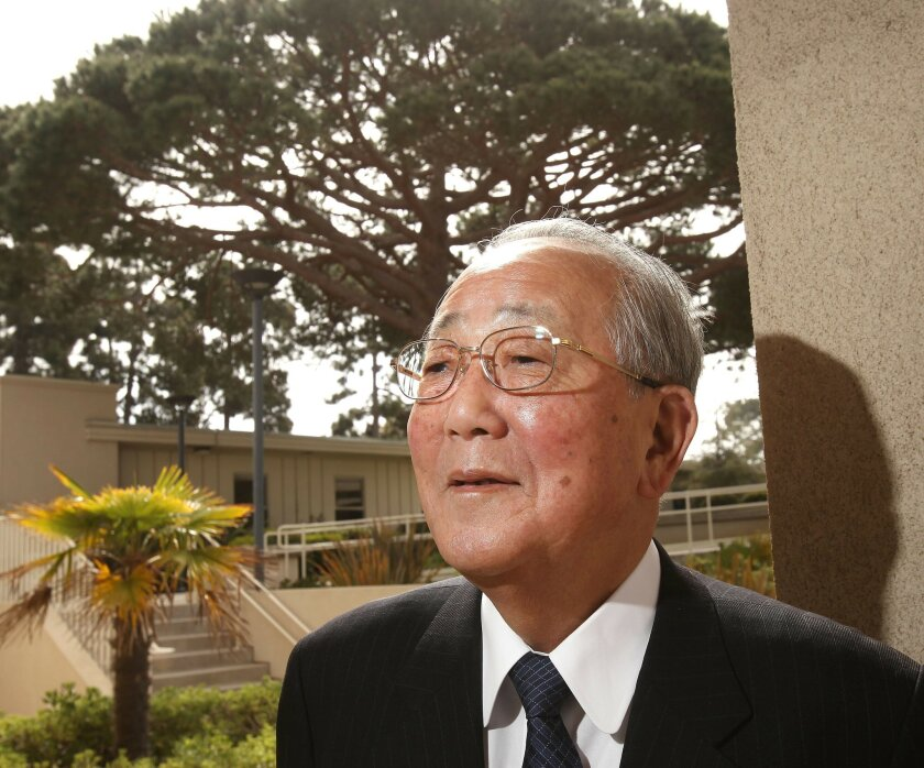 Kazuo Inamori, founder of Kyocera, was in San Diego for the Kyoto Awards Gala Tuesday.
