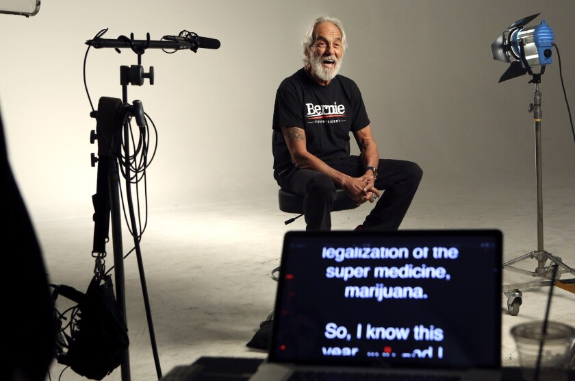 Tommy Chong makes an ad for Bernie Sanders