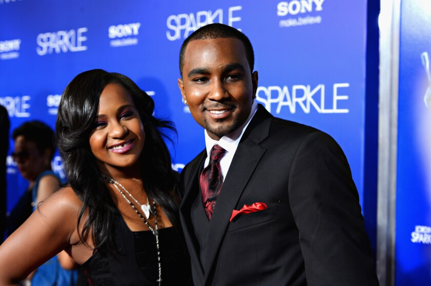 "Bobbi Kristina Brown and Nick Gordon arrive at Tri-Star Pictures' ""Sparkle"" premiere at Grauman's Chinese Theatre on August 16, 2012 in Hollywood, California."