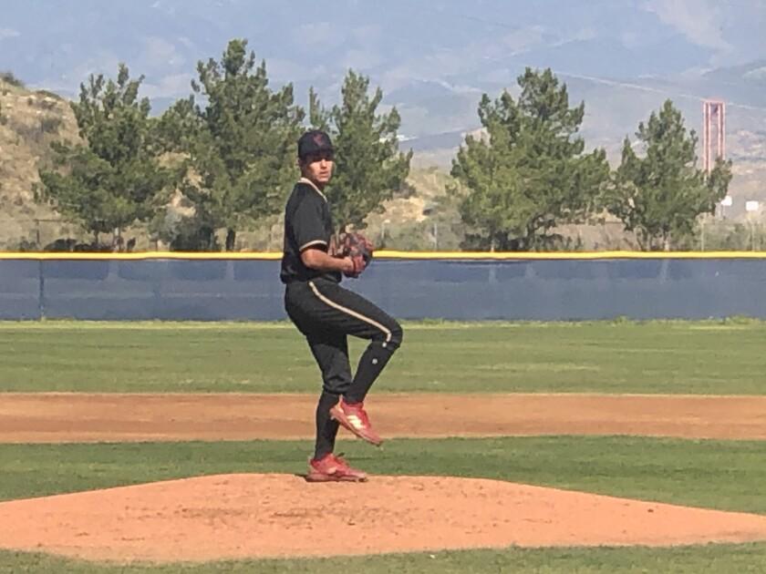Junior left-hander Gage Jump of JSerra began the high school baseball season against West Ranch on Saturday.