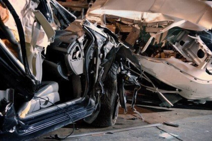 Mangled crash vehicles – 2012 SEMA Show