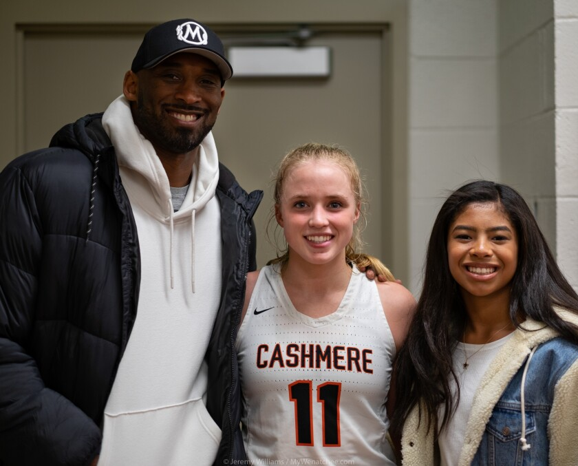 Gigi and Kobe Bryant befriended a small-town basketball star and her trainer dad