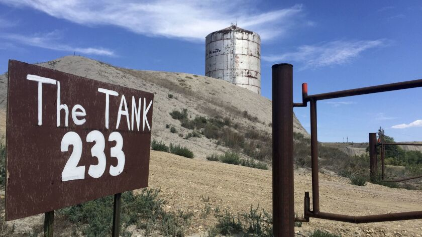 The Tank sits on a desert hill in Rangely, Colo. Its strange acoustical properties have made it a de