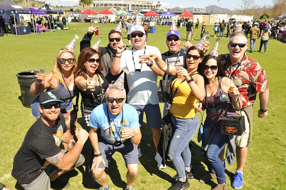 San Diegans celebrated in the sunshine at the the Mission Valley Craft Beer & Food Festival on Saturday, Feb. 29, 2020.
