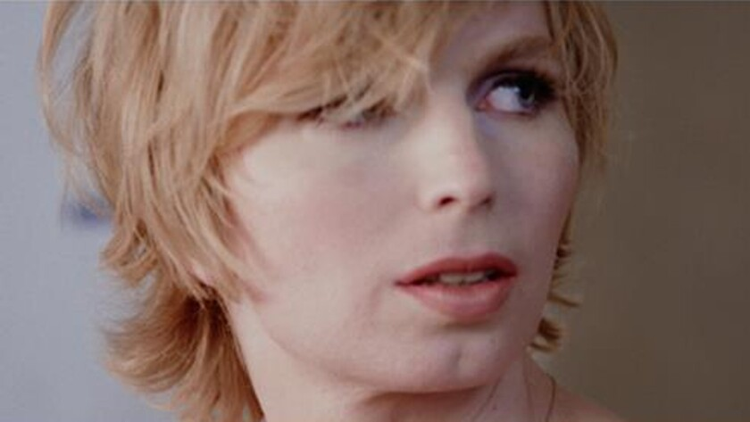 "Chelsea Manning in a scene from ""XY Chelsea."" Credit: Showtime"