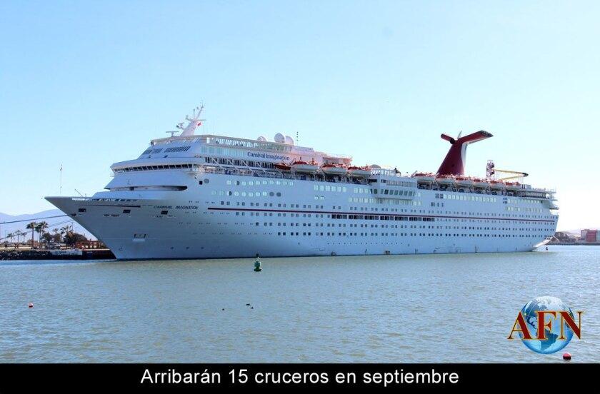 Arribarán 15 cruceros en septiembre