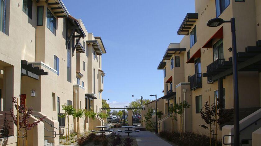 Paradise Creek Apartments on Hoover Avenue.