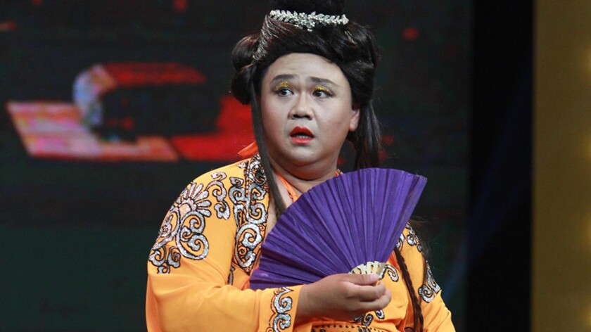Comedian Minh Quang Hong is known for playing a variety of roles from comedy to parody.
