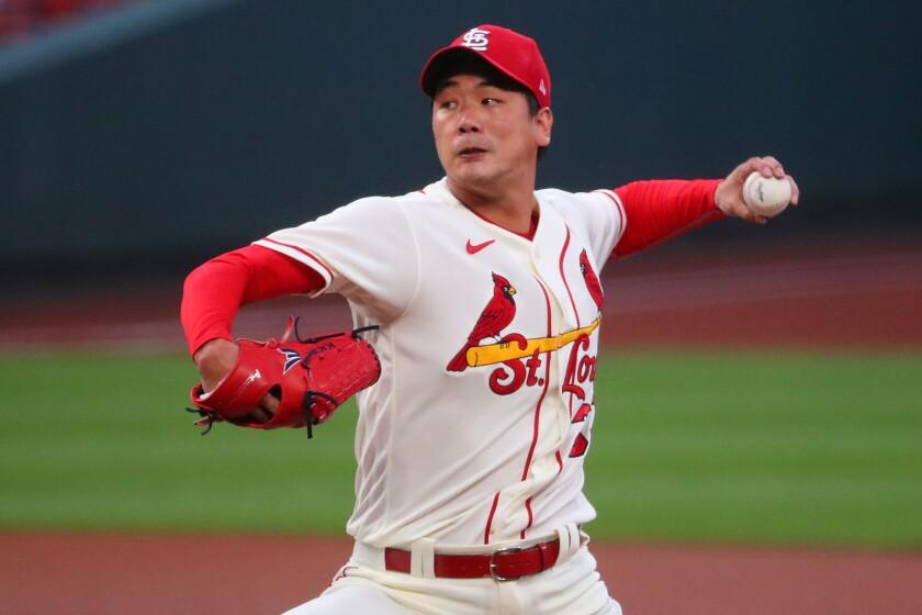 Kwang-Hyun Kim of the St. Louis Cardinals