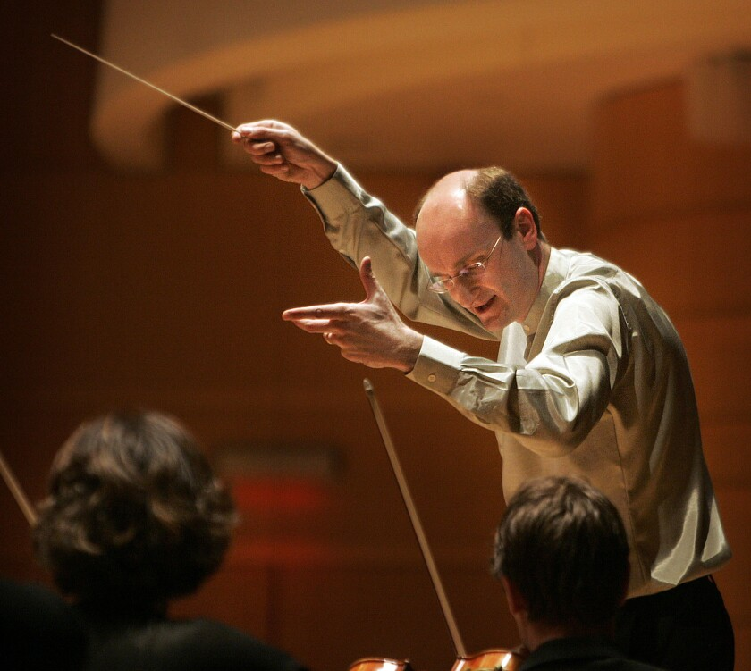 A file photo of conductor Andrew Manze.