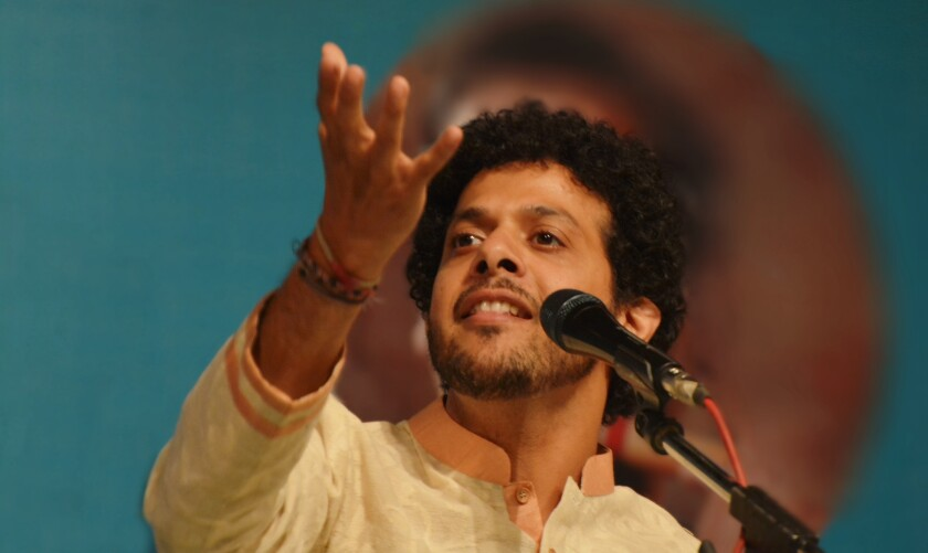 Singer Mahesh Kale specializes in the Hindustani classical music traditions of his native India, but is also comfortable collaborating with jazz artists.