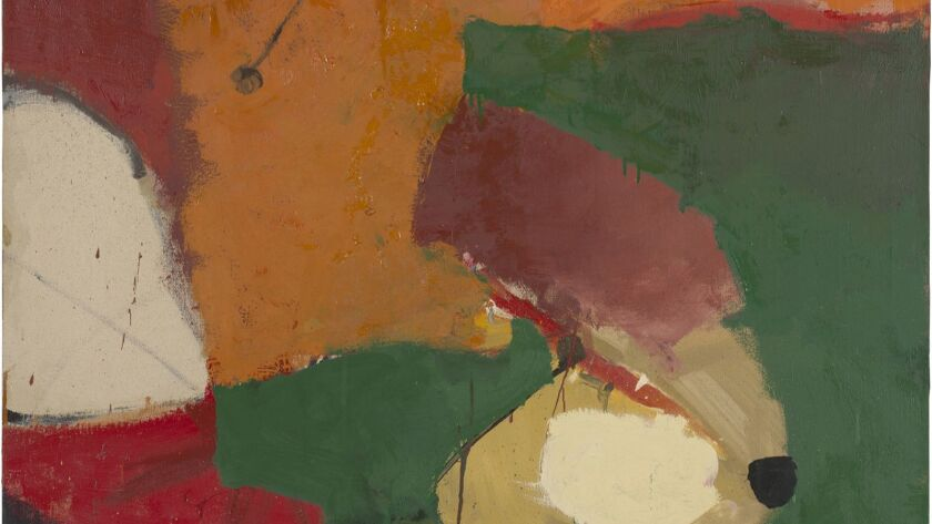 A detail from an untitled 1949 oil painting by Richard Diebenkorn. A survey of the American artist's early work will be on display at Pepperdine University's Frederick R. Weisman Museum.