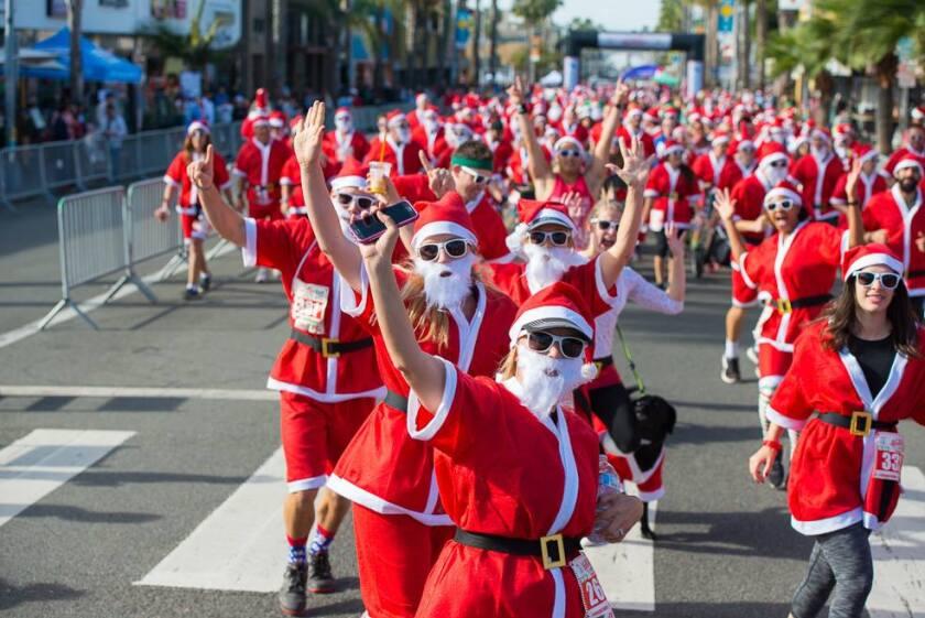 A photo of San Diego Santa Run
