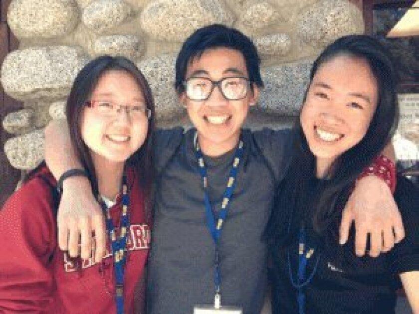 Jane Han, Brian Thai and Isabel Quan.