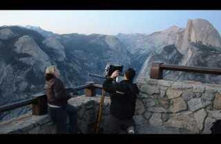 Night falling, Glacier Point and Half Dome, Yosemite