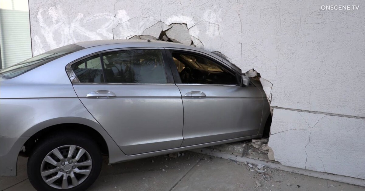 Driver who crashed into dentist's office is arrested, suspected of DUI