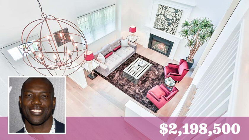 Former NFL star Terrell Owens is accepting backup offers on his home in Sherman Oaks after re-listing the two-story home earlier last month for $2,198,500.