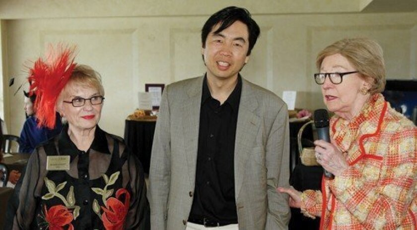 Orchestra Nova CEO Beverly Lambers, artistic director Jung Ho Pak and honoree Elsie Weston. Photo: Jon Clark