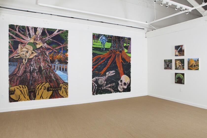 Daniel Duford's paintings at OCMAExpand - Santa Ana