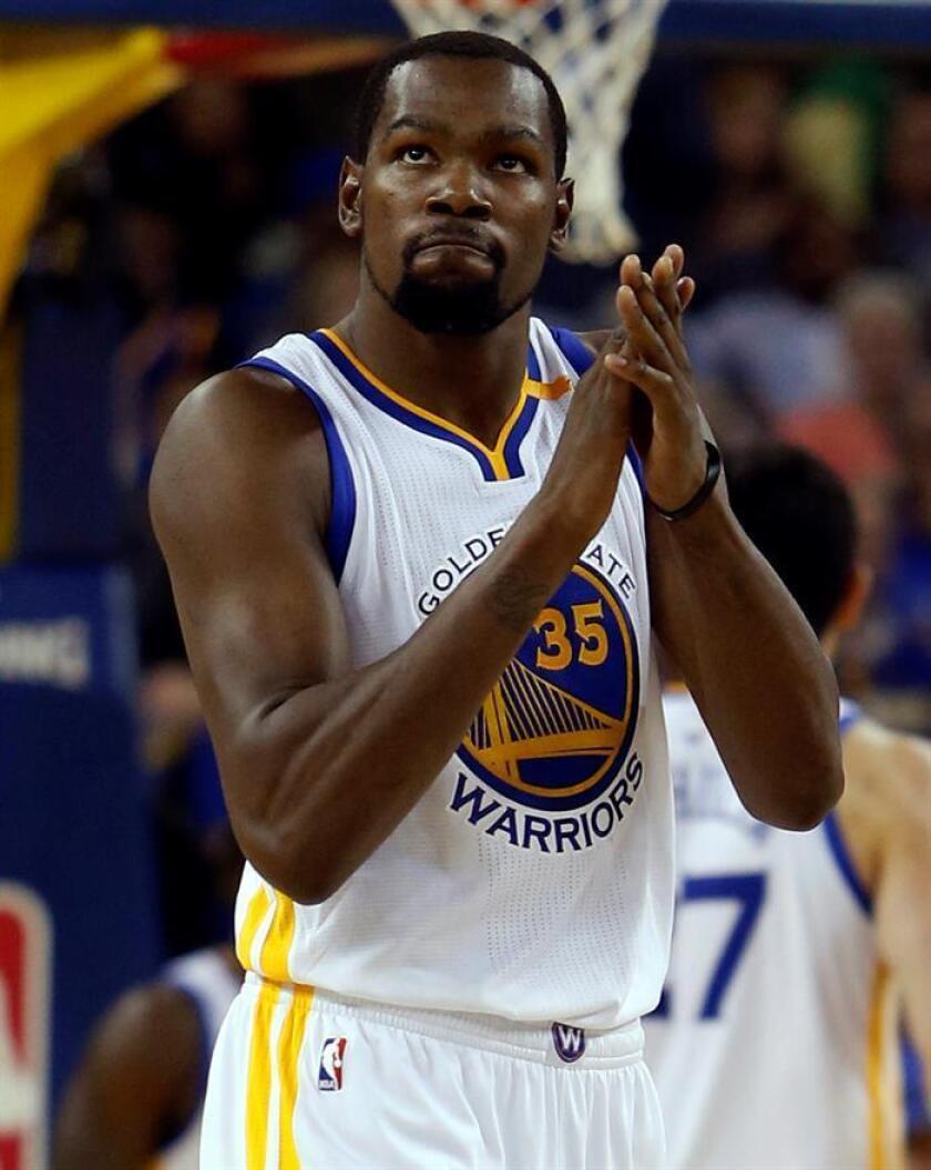 En la imagen, el alero Kevin Durant. EFE/Archivo