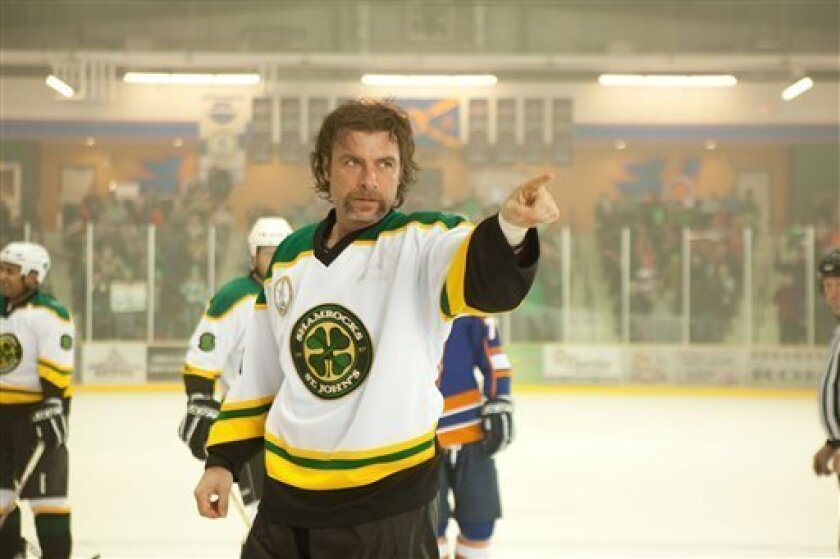 """In this film image released by Toronto International Film Festival, Liev Schreiber is shown in a scene is from the hockey film """"Goon."""" The film is being presented at the Toronto International Film Festival, running through Sept. 18. (AP Photo/Toronto International Film Festival)"""