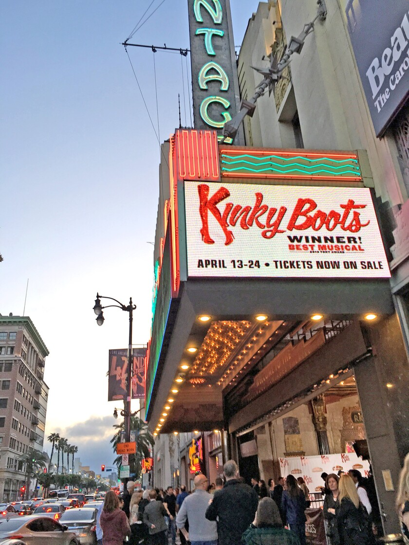 """Kinky Boots"""" at Hollywood's Pantages Theatre"""