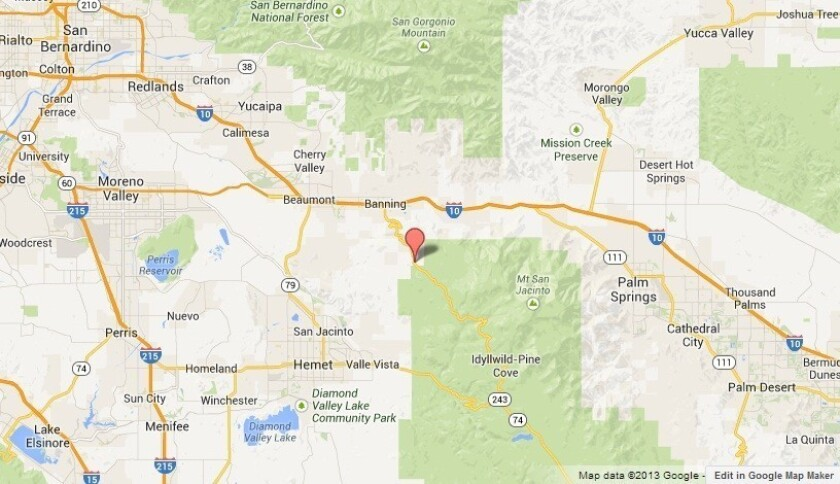 New brush fire threatening homes in Riverside County - Los ...