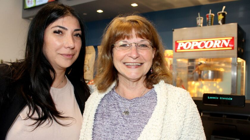 Glendale residents, Adrine Novshadyan and Elaine Sawitskas, appreciating the combination of food an