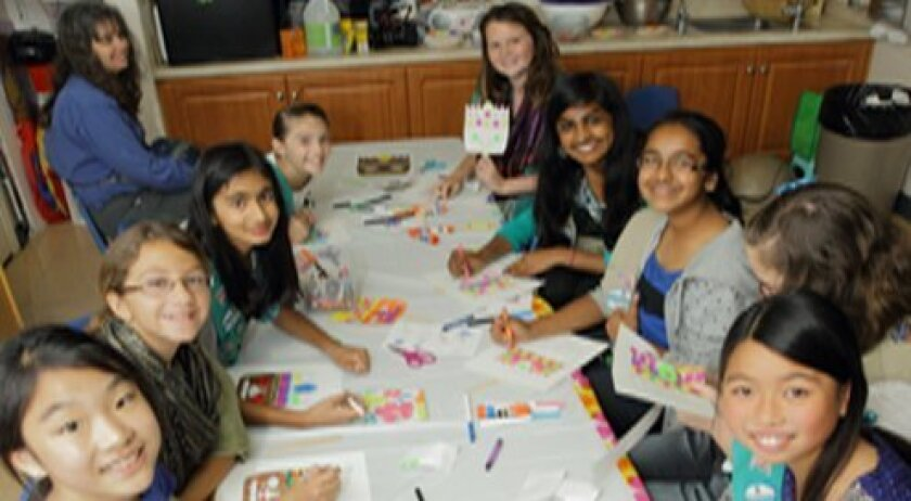 Girl Scouts learn about the nation of Fiji.