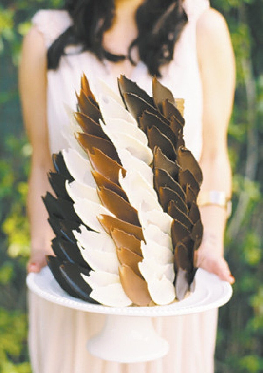 Chocolate feather cake by Cupcakes Couture