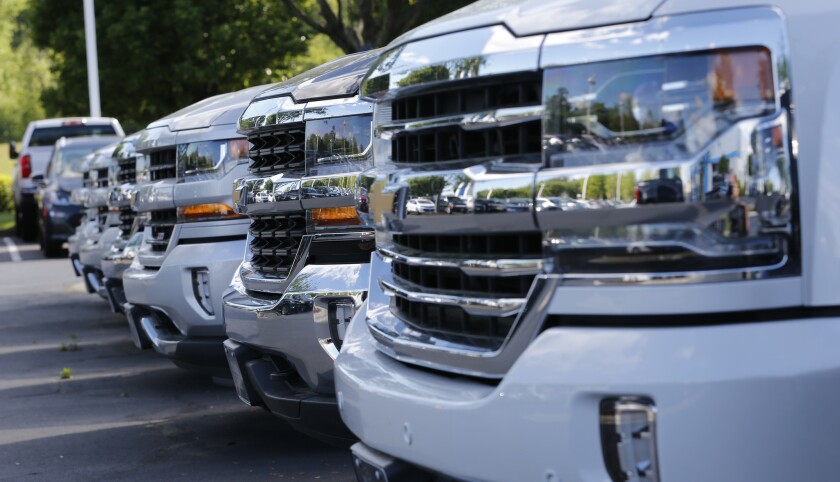 Automakers requested a relaxation of landmark federal fuel-efficiency standards to allow them to sell more low gas-mileage SUVs and trucks that are popular with customers.