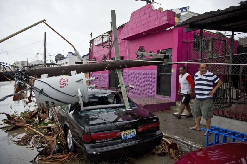 Destruction caused by Hurricane Odile after it slammed into Cabo San Lucas, in Mexico's Baja California peninsula, on Sept. 14, 2014.