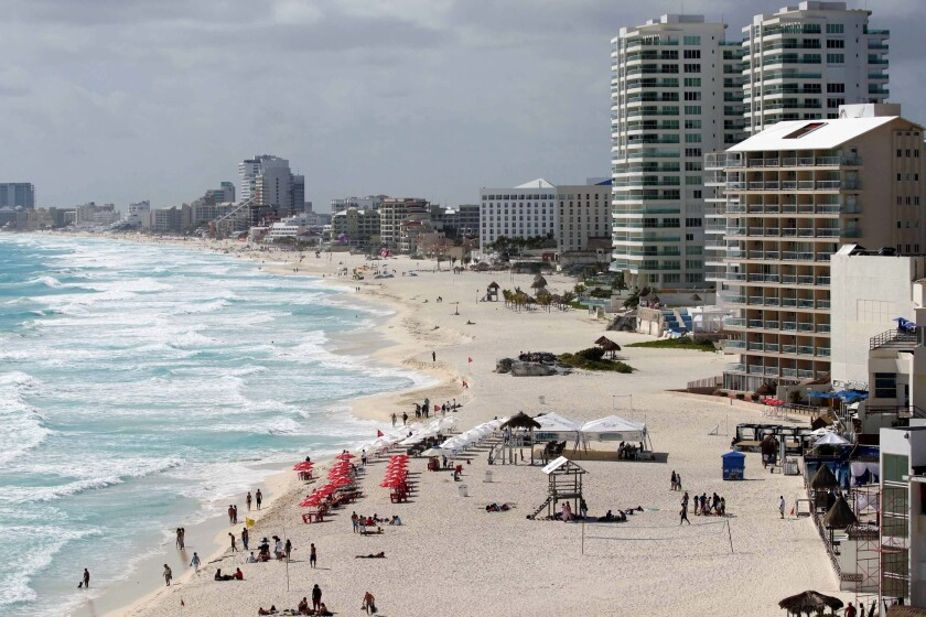 The Mexican resort town of Cancun came in second among top destinations for