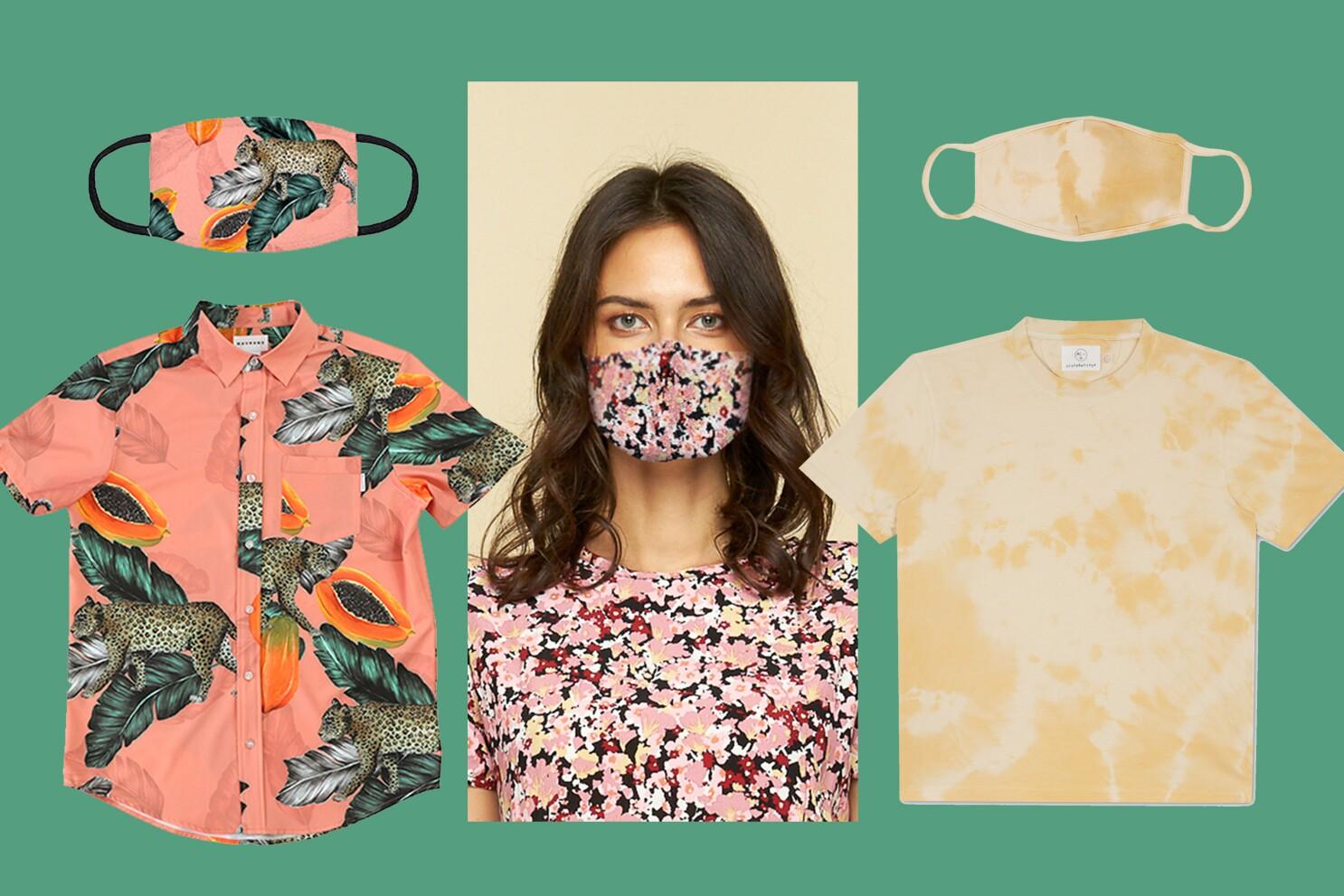 Coronavirus Tips Stylish Matching Sets With Face Masks Los Angeles Times